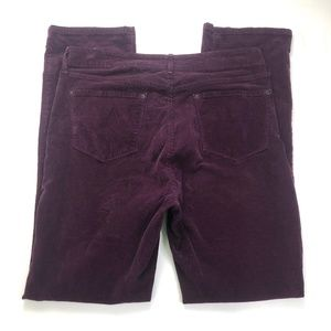 NYDJ Corduroy Straight Purple Red 35W Altered